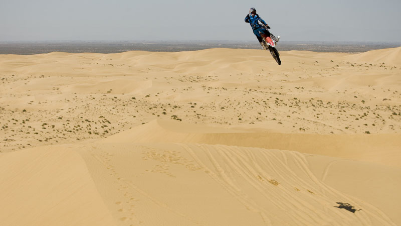 Red Bull FMX Team at Glamis sand dunes.