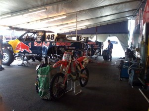 Pit Area with Steve Barlow and Ricky Johnson