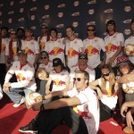Red carpet with the team at the Red Bull Arena