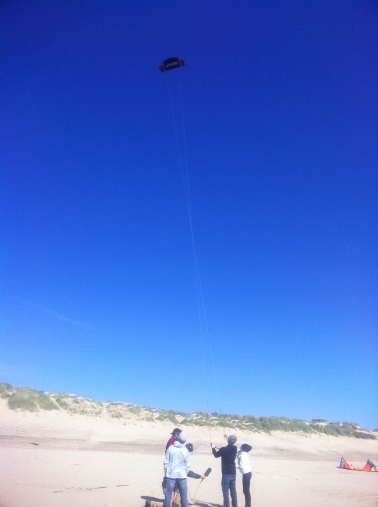 Susi Mai came out to show us how to fly trainer kites!